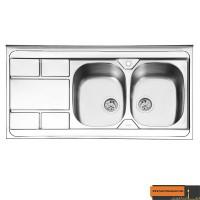 سینک آشپزخانه ایلیا استیل فانتزی روکار مدل 1042