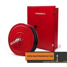 جعبه و قرقره آتش نشانی به همراه نازل (فایر باکس) (0)