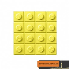 کف پوش سکه ای زرد پارسیان 20*20 MV 211