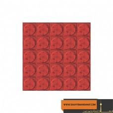 کف پوش سکه ای قرمز پارسیان 40*40 MV 228
