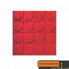کف پوش سکه ای قرمز پارسیان 20×20 MV 212