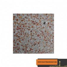 موزاییک صاف سفید قرمز استاندارد پارسیان 40*40 MPS136