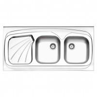سینک ظرفشویی استیل البرز کد 270/60 روکار